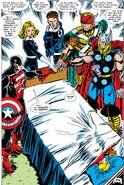 Avengers (Earth-616) the Captain's Roster from Avengers Vol 1 300