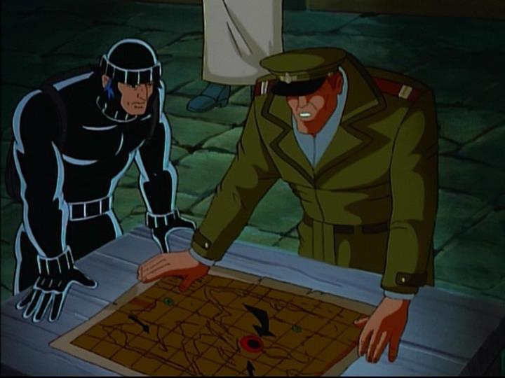 Wolverine (Logan) (Earth-92131) and Samuel Sawyer (Earth-92131) from X-Men The Animated Series Season 5 11 001.jpg