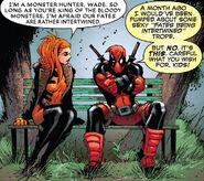 Elsa Bloodstone (Earth-616) and Wade Wilson (Earth-616) from Deadpool Vol 8 5 001