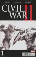 Civil War II Vol 1 1 McNiven Sketch Variant