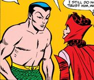Namor McKenzie (Earth-616) and Wanda Maximoff (Earth-616) from X-Men Vol 1 6 001