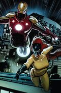Anthony Stark (Earth-616) and Patricia Walker (Earth-616) from Iron Man Vol 6 1 001