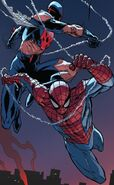Peter Parker (Earth-616) and Miguel O'Hara (Earth-928) from Superior Spider-Man Vol 1 31 001