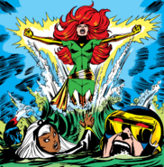 X-Men (Earth-616) and Phoenix Force (Earth-616) from X-Men Vol 1 101 cover