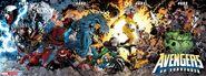 Avengers Vol 1 679-682 Bradshaw Interconnected Variants Textless