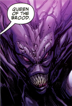 Queen of the Brood (Galactic Council) (Earth-616) from Guardians of the Galaxy Vol 3 2 0001.png