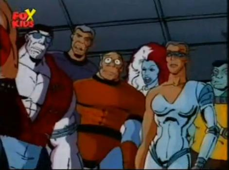 Marshall Stone III (Earth-92131), Peter Quinn (Earth-92131), Randall Darby (Earth-92131), Vanessa Carlysle (Earth-92131), and Philippa Sontag (Earth-92131) from X-Men The Animated Series Season 4 6 001.jpg
