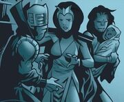 Anelle (Earth-616), Dorrek VII (Earth-616), Mary-Jo Altman (Earth-616) and Theodore Altman (Earth-616) from Young Avengers Vol 1 10 001.jpg