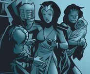 Anelle (Earth-616), Dorrek VII (Earth-616), Mary-Jo Altman (Earth-616) and Theodore Altman (Earth-616) from Young Avengers Vol 1 10 001