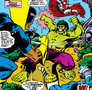 Defenders for a Day (Earth-616) and Bruce Banner (Earth-616) from Defenders Vol 1 63 001