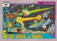 Norrin Radd vs. Thanos (Earth-616) from Marvel Universe Cards Series II 0001