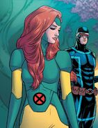 Jean Grey (Earth-616) and Scott Summers (Earth-616) from Giant-Size X-Men Jean Grey and Emma Frost Vol 1 1 001