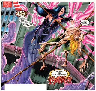 Absalom (Earth-616) vs Selene Gallio (Earth-616) from X-Force Vol 1 54 001.png
