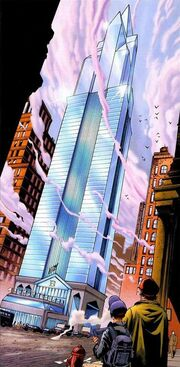 Baxter Building (Earth-1610) from Ultimate Fantastic Four Vol 1 1 001.jpg