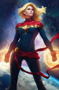 Captain Marvel Vol 10 1 Artgerm Collectibles Exclusive Variant Textless