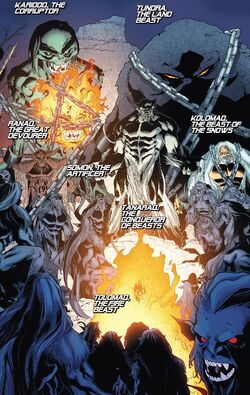 Great Beasts (Earth-616) from Amazing X-Men Vol 2 11 001.jpg