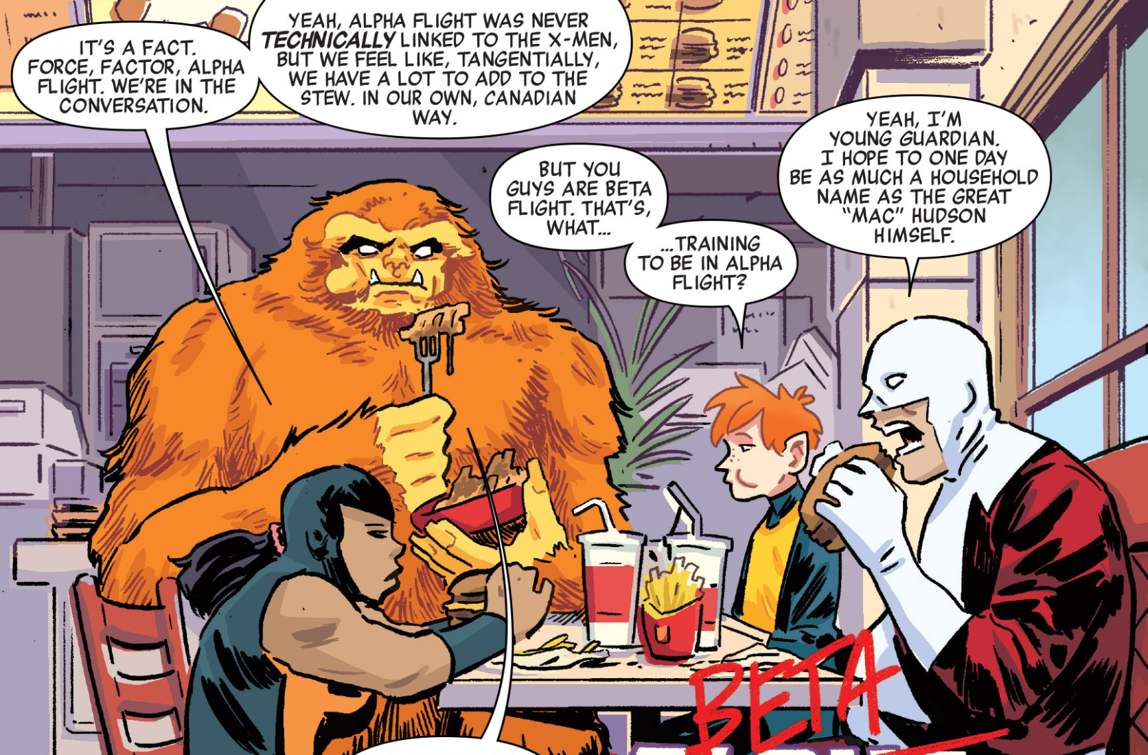 Beta Fight (Earth-TRN656) from X-Men Worst X-Man Ever Vol 1 2 001.png