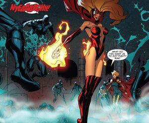 Candra (Earth-616) killing Assassins Guild (Earth-616) Scarlet Spider Vol 2 -19.jpg