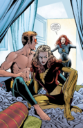 Emma Frost (Earth-616) & Scott Summers (Earth-616) from New X-Men Vol 1 139 001