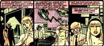 Joyce Delaney (Earth-616) and Miles Warren (Earth-616) from Spectacular Spider-Man Annual Vol 1 8 001.jpg