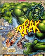 Thor Odinson (Heroes Reborn) (Earth-616) and Bruce Banner (Earth-616) from Avengers Vol 2 5 0001