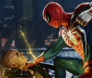 Maxwell Dillon (Earth-1048) and Peter Parker (Earth-1048) from Marvel's Spider-Man (video game) 001
