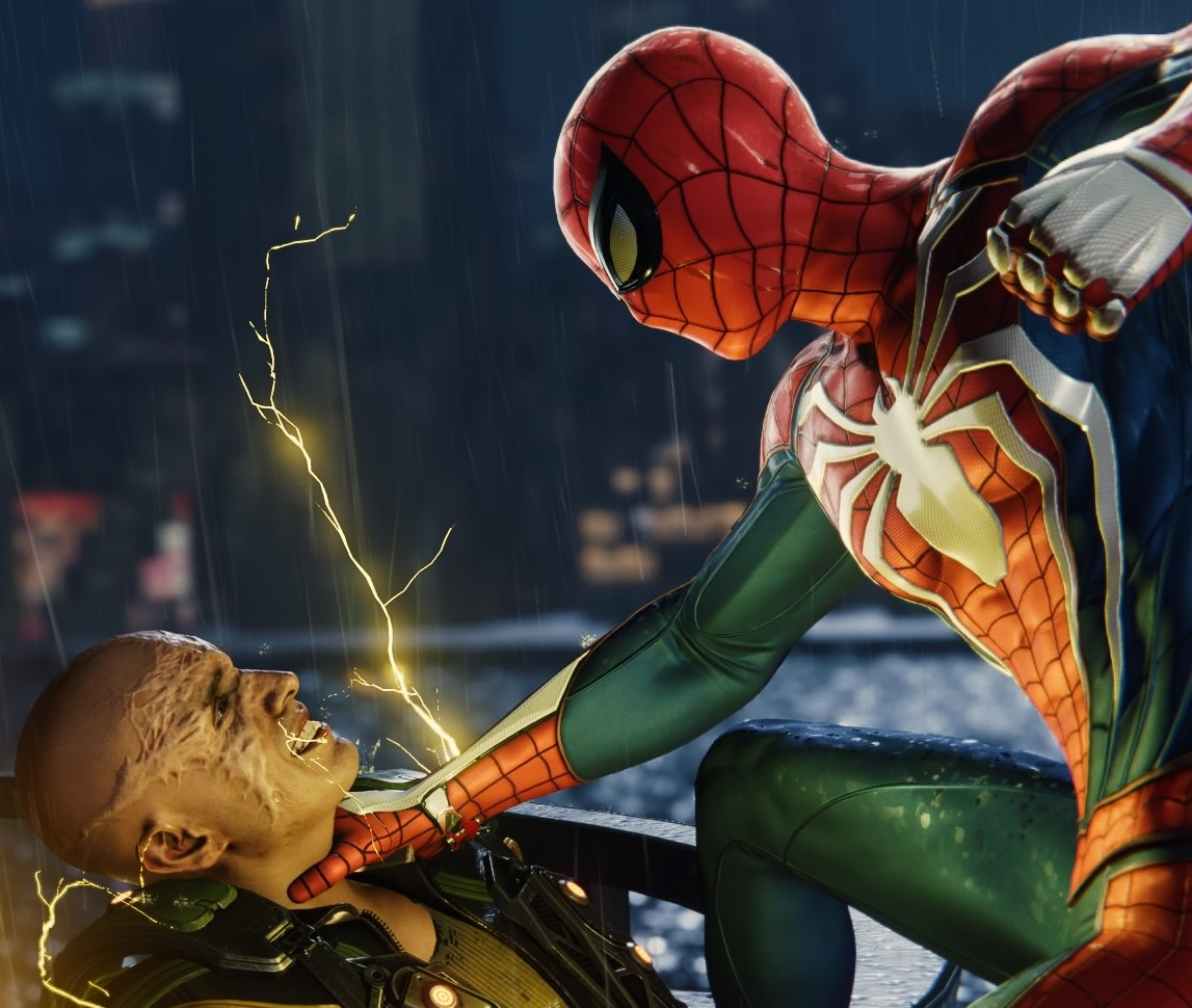 Maxwell Dillon (Earth-1048) and Peter Parker (Earth-1048) from Marvel's Spider-Man (video game) 001.jpg