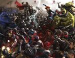 Avengers Age of Ultron concept art composite poster