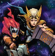 Freyja Freyrdottir (Earth-616) and Thor Odinson (Earth-616) from Thor Vol 5 11 001