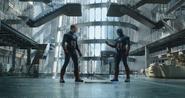 Steven Rogers (Earth-199999) and Steven Rogers (Earth-TRN732) from Avengers Endgame