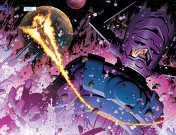 Galan (Earth-616) and Frankie Raye (Earth-616) from New Avengers Vol 1 40 001.jpg