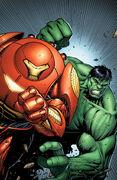 Indestructible Hulk Vol 1 6 Many Armors of Iron Man Variant Textless