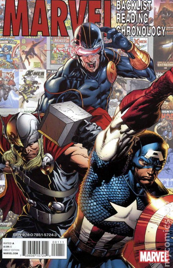 Marvel Backlist Reading Chronology Vol 1 1