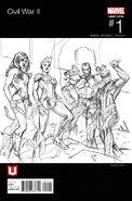 Civil War II Vol 1 1 Team Captain Marvel Hip-Hop Sketch Variant