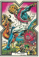 Meggan Puceanu and Brian Braddock (Earth-616) from Excalibur Trading Cards 0001