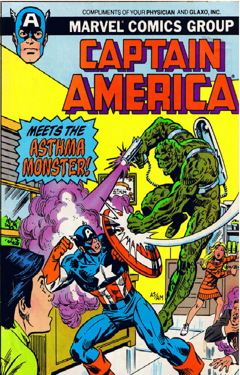 Captain America Meets the Asthma Monster Vol 1