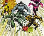 Carl Mach (Earth-616), Donna Diego (Earth-616), Trevor Cole (Earth-616),Leslie Gesneria (Earth-616) and Ramon Hernandez (Earth-616) from Venom Separation Anxiety Vol 1 1 0001.jpg
