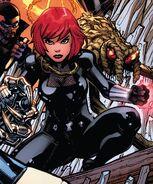 Natalia Romanova (Earth-616) and Boy-Thing (Earth-616) from Avengers Vol 8 29 cover 001