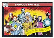 Fall of the Mutants (Earth-616) from Marvel Universe Cards Series I 0001