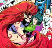 Medusalith Amaquelin (Earth-616) and Ahura reunited from Fantastic Four Unlimited Vol 1 2.jpg