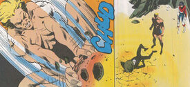 Brian Braddock (Earth-616), Slaymaster (Earth-616), and Elizabeth Braddock (Earth-616) from Captain Britain Vol 2 13 0001.jpg