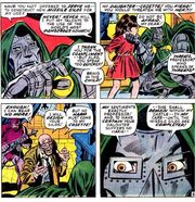 Victor von Doom (Earth-616), Cosette Lafarge (Earth-616), and Francis Lafarge (Earth-616) from Thor Vol 1 182 001.jpg