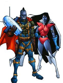 Sagittarians from Official Handbook of the Marvel Universe A-Z Update Vol 1 5 001.jpg