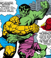 Bruce Banner (Earth-616) and Benjamin Grimm from Fantastic Four Vol 1 26 0001