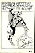 SPIDERMAN ISSUE 3 PIN UP ORIGINAL ARE OWNED BY DAVID MANDEL