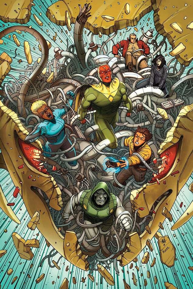 Avengers A.I. Vol 1 1 Araujo Variant Textless.jpg