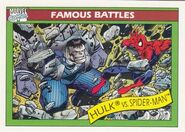 Bruce Banner vs. Peter Parker (Earth-616) from Marvel Universe Cards Series I 0001