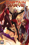 Captain Marvel Vol 10 16 Lee Connecting Variant
