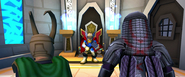 Loki Laufeyson (Earth-91119) and Ronan (Earth-91119) Vs. Thor Odinson (Earth-91119) from Marvel Super Hero Squad Online 001