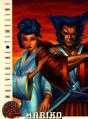 Mariko Yashida & James Howlett (Earth-616) from 1996 Fleer X-Men (Trading Cards) 0001